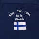 Apron - Kiss the Cook he is Finnish - Navy
