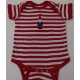 Baby Onesie - Gnome on Red Stripe