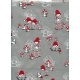 "Gift Wrap Christmas Santas on Silver 23""x72"""