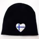 Finland Heart Knit Beanie