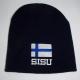 Finland flag beanie w/ SISU text