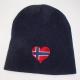 Norway Heart Knit Beanie