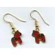 Red Dala Horse Earrings