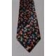 Necktie - Black with Dala Horses