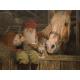 """Jan Bergerlind - Tomte & Horse doormat 24"""" x 36"""""""