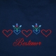Embroidered Unisex Tshirt- Hearts & Flowers- Navy Blue