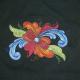 Embroidered Unisex Tshirt - Rosemaling- Black