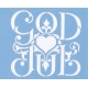 Stencil - God Jul Scroll