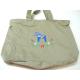 Pocket Tote bag - Blue Dala Horse & Flowers