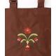 Pocket Tote bag - Folk Art Flowers