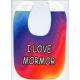 Baby Bib - Tie Dye I Love Mormor