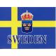 Sweden Flag with Crest Notecards