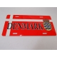 Denmark Flag & Crest License Plate