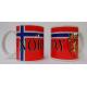 Coffee Mug -  Norway Flag & Crest