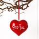 Ornament -  God Jul Heart