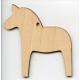 Baltic Birch Ornament - Dala Horse