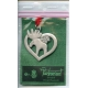 Pewter Ornament -  Reindeer in Heart