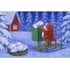 Laminated Placemat - Tomte Delivering Mail