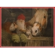 Poster - Tomte with Horse & Cat