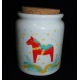 Dala Horse Jar with Cork Stopper