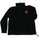 Embroidered Fleece Pullover Jacket- Norway Flag - Black