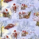 Gift Wrap Christmas Santas on Bicycles