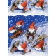 Counter Roll Gift Wrap  Skiing Tomtar