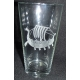 Pint Beer Glass - Viking Ship