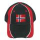 Baseball Hat - Norwegian Flag - Black