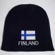 Finland flag beanie w/ FINLAND text