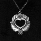 Pewter Pendant - Open Heart