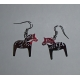 Silver Dala Horse Earrings