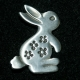Pewter Pin - Bunny Rabbit