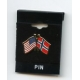 Lapel Pin - Norway & USA Flags