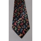 Necktie - Black with Dala Horses