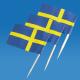 Flag Toothpicks - Sweden