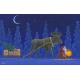 Placemat -  Tomte w/Lantern Leading Moose