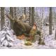 """Jan Bergerlind - Moose doormat 24"""" x 36"""""""