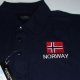 Embroidered Polo- Norway Flag on Navy