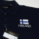 Embroidered Polo- Finland Flag on Navy