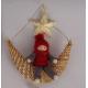 Santa on Straw Moon Ornament