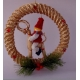 Straw Wreath with Tomte