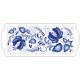 Tray for Almond Cake - Blue Folk Art