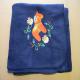 Fleece Blanket - Dala Horse & Flowers