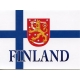 Finland Flag with Crest Notecards