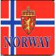 Coasters - Norway Flag & Crest