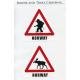 Decals - Norway Troll & Moose Crossing Signs