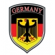Decal -  Germany Crest Flag