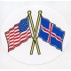 Decal - US & Iceland  Flags