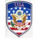 Decal -  USA Crest Flag